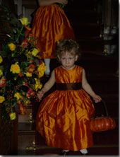 Pumpkin Orange Silk flower girl dresses