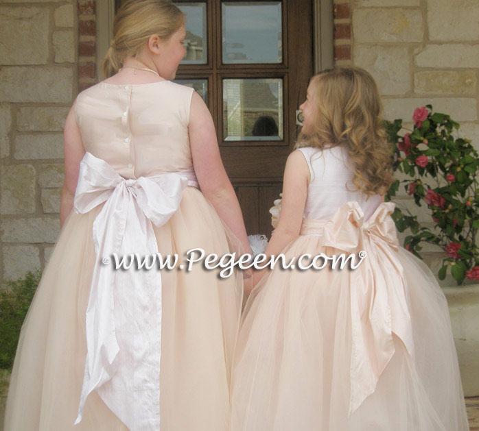 Layered Tulle Flower Girl Dress Silk Flower Girl Dresses