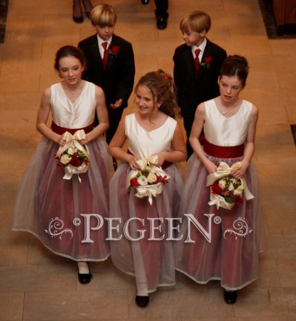 Res silk flower girl dresses