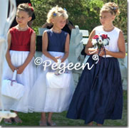 Flower Girl Dresses - Patriotic Themed wedding red white & blue flower girl dresses