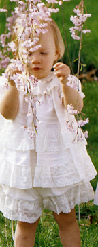 Infant flower girl dresses with pantaloons