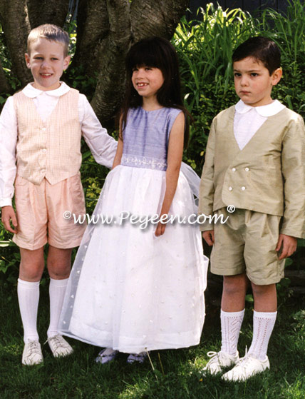 Boy's ring bearer suit style 266 with vest, shirt and shorts
