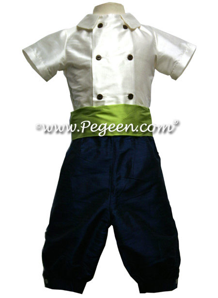 Page boys Couture Ring Bearer with Cummerbund and Special Double Front Buttons