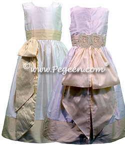 Cotillion or Couture Jr. Bridesmaids Dress w/Tulle, Beaded Aloncon Lace, Spagetti Straps