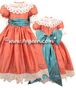 Clara's Battenburg Party Dress Nutcracker or Party Flower Girl Dress from the Nutcracker Collection by Pegeen