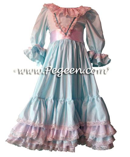 Clara's Nightgown for the Nutcracker in Light Aqua Cotton