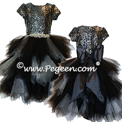 Sequin and Tulle Jr Bridesmaids Dress
