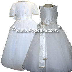 Rhinestones and Pearls Silk Organza and Tulle Dress