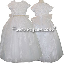 Rhinestones and Ribbon Bodice Silk Organza and Tulle Dress Style 995