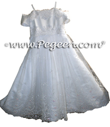 Tulle & Beaded Cotillion or First Communion Dress Style 999