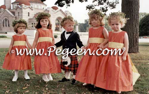 Flower girl dresses customized by Pegeen.com