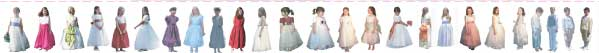 Discounted FLOWER GIRL DRESSES Overstock and Samples on Sale