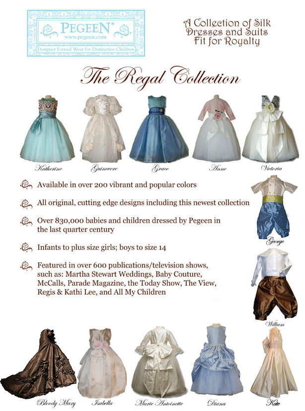 Pegeen Announces the Regal Collection of Flower Girl Dresses and Suits