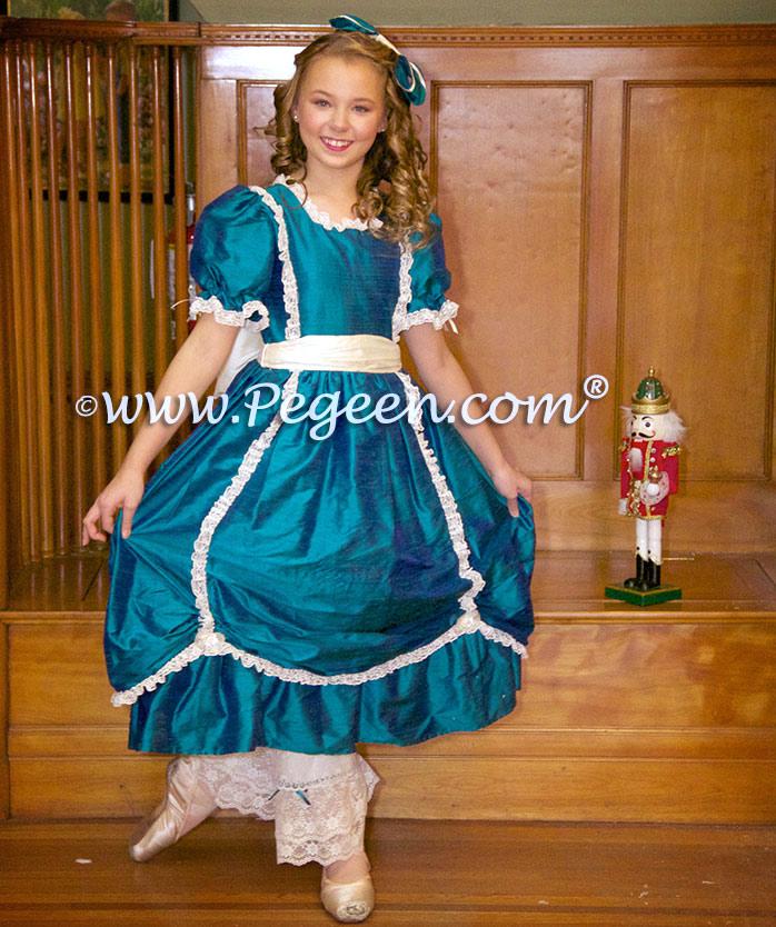 f3e37abc9169 Baltic Sea Silk Dress for Nutcracker Party Scene Dress for Clara by Pegeen  Style 397
