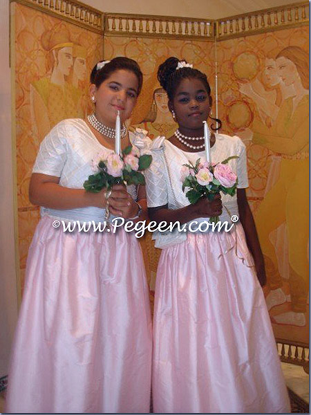 c6906b57ea3 Pink and Blue Ivory Jr Bridesmaids for Indian Wedding