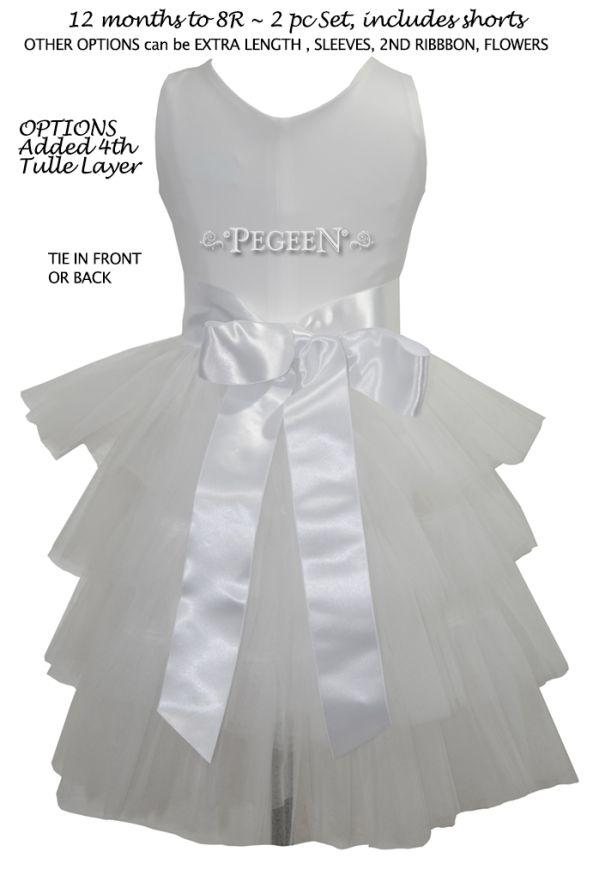 Classic Knit Flower Girl Dress 1102   Pegeen