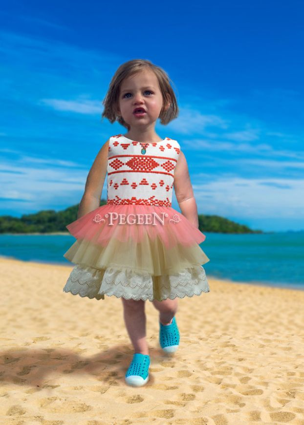 Princess Island Girl Dress | Pegeen 1107