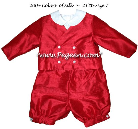 Boys Silk Ringbearer Suit Style 215