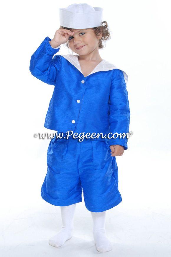 Boys Silk Short Sailor Suit 240 2T - 7 for Pageboy