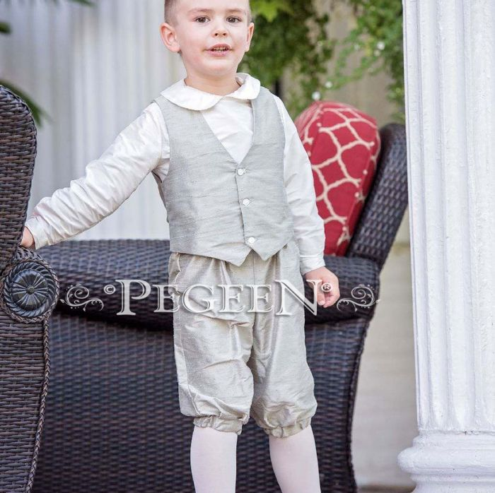 Boy's 3 pc vest - shirt and knicker suit