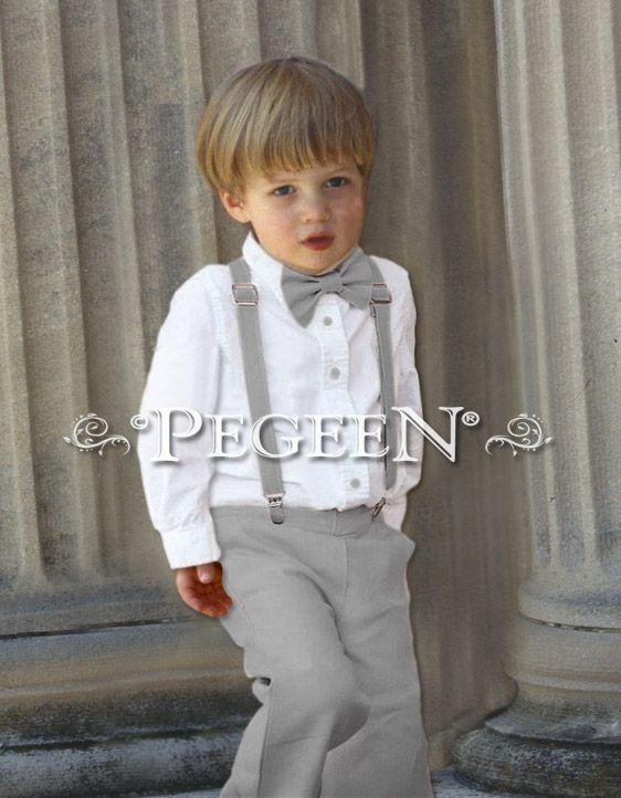 Boys Style 299 - Pants, Oxford Shirt, Suspender Set