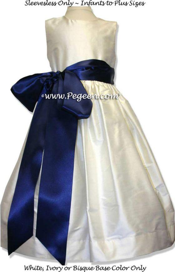 Details - Flower Girl Dress Style 300 - shown in antique white