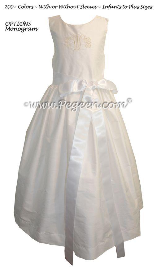 Monogrammed Flower Girl Dress