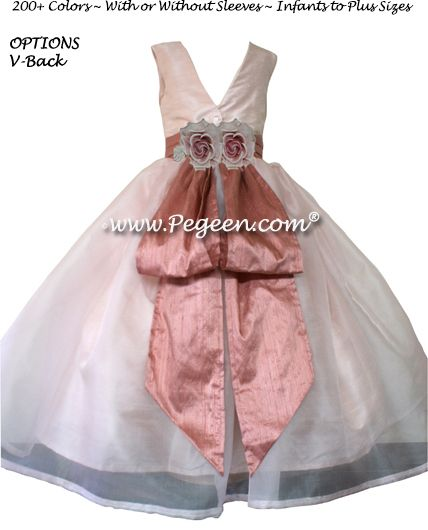 Flower Girl Dress Style 313 in Rum Pink & Blush - one of 200+ colors