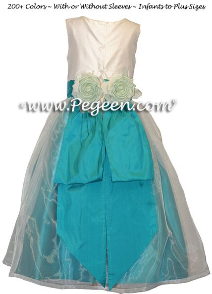 Flower Girl Dress Style 313 in Turquoise - one of 200+ colors