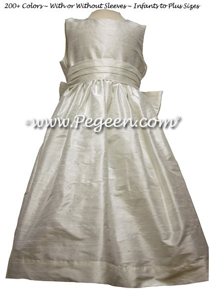 Flower Girl Dress style 318 in Antique White - one of 200+ colors