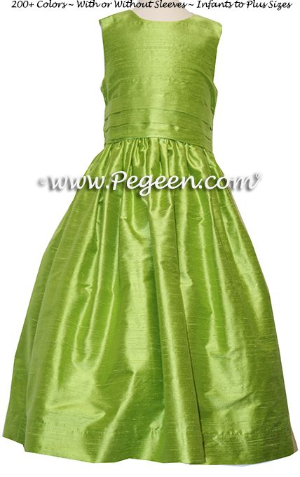 Flower Girl Dress style 318 in Apple Green - one of 200+ colors