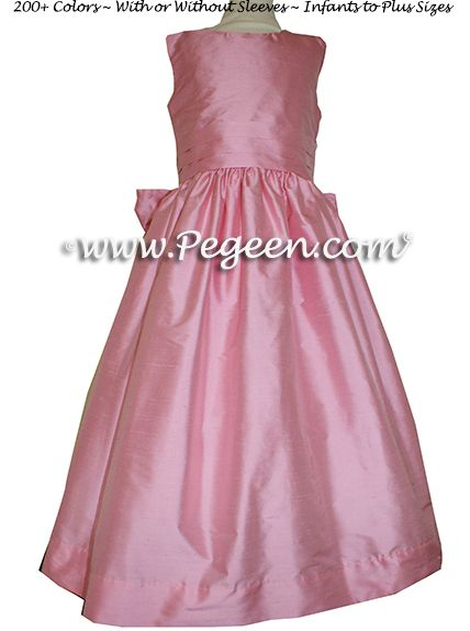 Flower Girl Dress style 318 in Bubblegum - one of 200+ colors