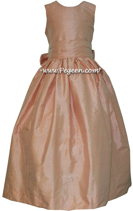 Flower Girl Dress style 318 in Peach - one of 200+ colors