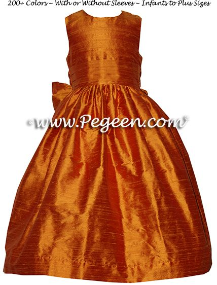Flower Girl Dress style 318 in Pumpkin - one of 200+ colors