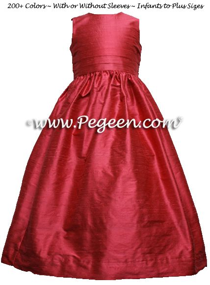 Flower Girl Dress style 318 in Rouge - one of 200+ colors