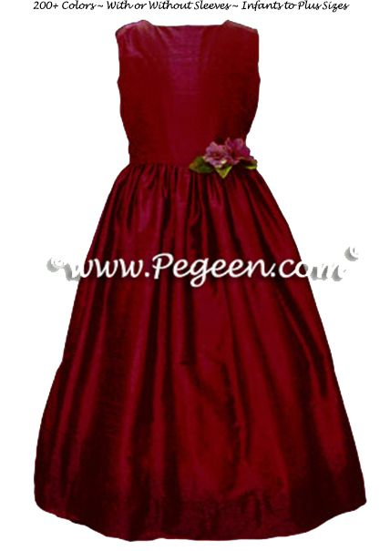 Flower Girl Dress Style 319 shown in burgundy - one of 200+ colors
