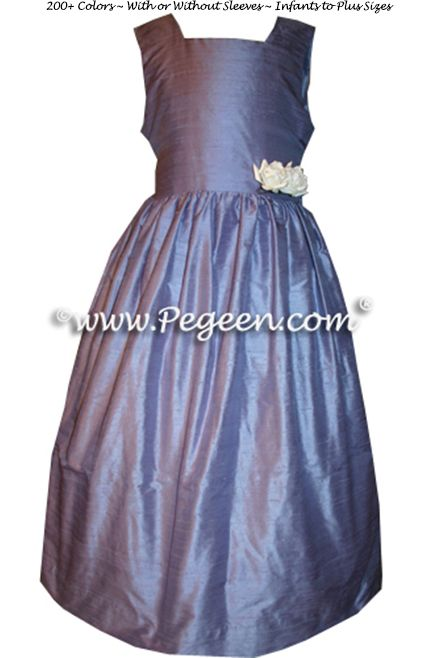 Flower Girl Dress Style 319 shown in periwinkle - one of 200+ colors