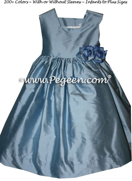 Flower Girl Dress Style 319 - Infant shown in french blue