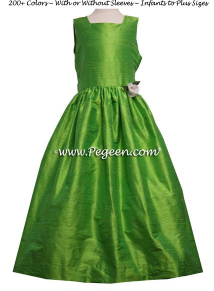 Flower Girl Dress Style 319 shown in Key Lime - one of 200+ colors