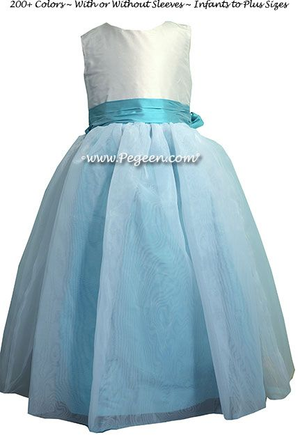 Flower Girl Dress Style 326 shown in Bahama Breeze - one of 200+ colors