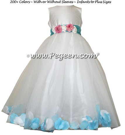 Flower Girl Dress Style 331 - shown in Bahama Breeze - one of 200+ colors