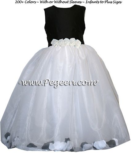 Flower Girl Dress Style 331 - shown in Black - one of 200+ colors