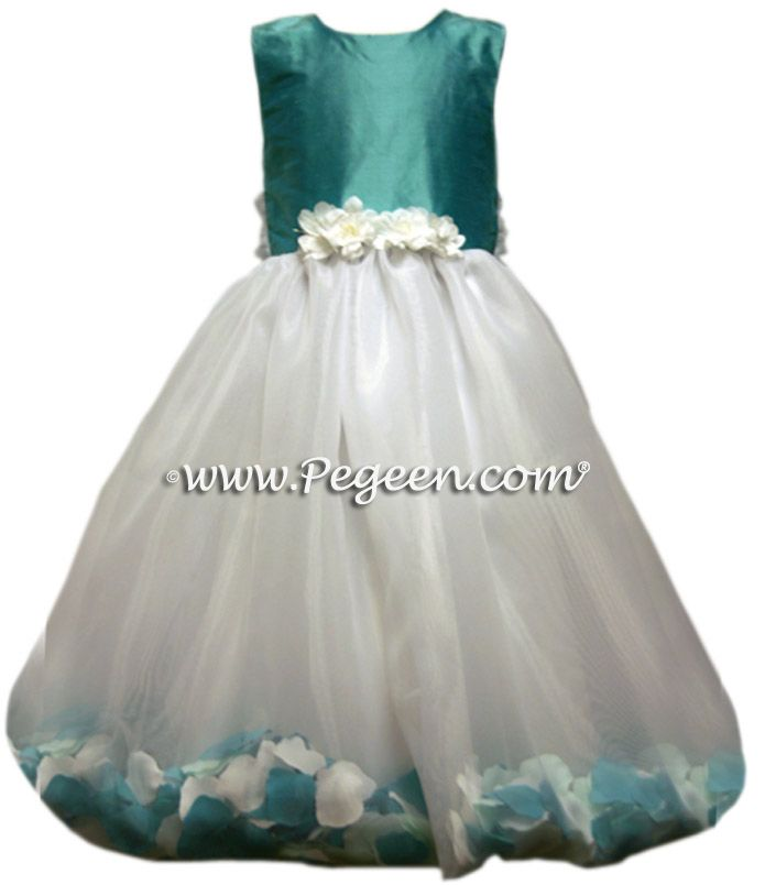 Details Flower Girl Dress Style 331 - shown in Tiffany Blue - one of 200+ colors