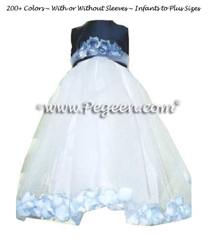 Flower Girl Dress Style 331 - shown in Navy - one of 200+ colors