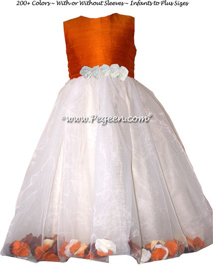 Flower Girl Dress Style 331 - shown in Pumpkin - one of 200+ colors