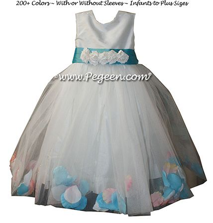 Flower Girl Dress Style 331 - shown in Tahiti - one of 200+ colors