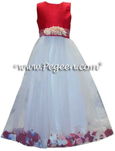Flower Girl Dress Style 333 shown in Christmas Red - one of 200+ colors