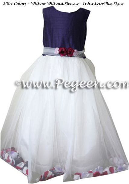 Flower Girl Dress Style 333 shown in Grape - one of 200+ colors