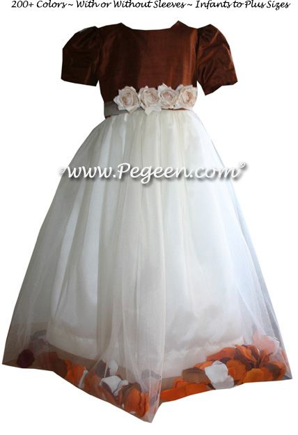 Flower Girl Dress Style 333 - shown in oak - one of 200+ colors