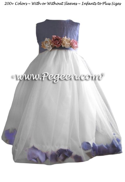 Flower Girl Dress Style 333 shown in Periwinkle - one of 200+ colors